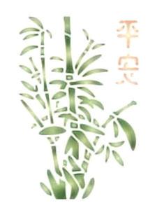 Szablon wielokrotnego użytku A5 - bambus x1