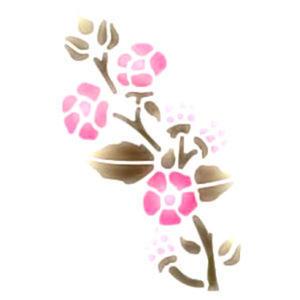 Szablon wielokrotnego użytku A5 - kwiaty z pąkami