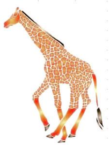 Szablon wielokrotnego użytku A4 - żyrafa x1
