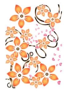 Szablon wielokrotnego użytku A4 - kwiatki x1