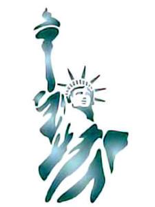 Szablon wielokrotnego użytku A4 - Statua Wolności