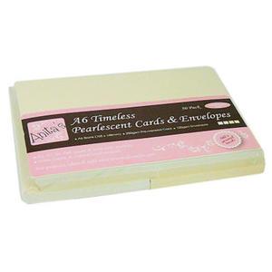 Zestaw kopert i kart A6Anita's perłowe kremowe x50