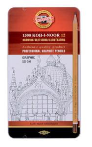 Ołówki techniczne 1502/III Koh-I-Noor Graph x12 - 2863791177