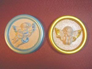Forma do odlewów gipsowych A-F2-15 anioł medal x1
