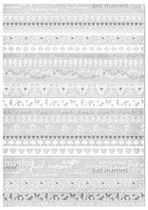 Kalka A4 115g Heyda Just Married Borders x1