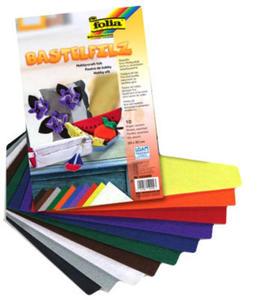 Filc kolorowy 1,5mm A4 Folia mix. kolorów x10