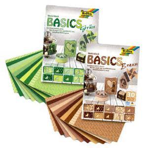 Blok papierów Motiveblock Basic tonacja zielona x1