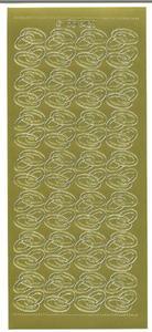 Sticker złoty 06428 - obrączki x1