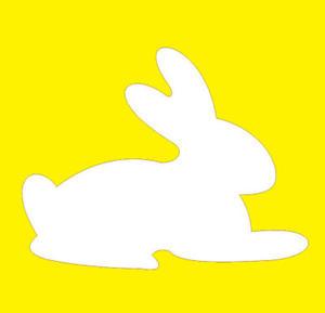Szablon ozdobny królik 12x12cm x1 - 2847287896