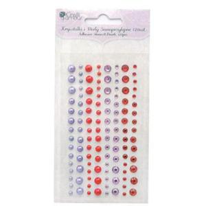Kryształki i perły samoprzyl. Cranberry 120e x1