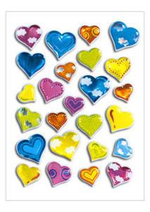 Naklejki HERMA Magic 5217 serca kolorowe we wzory