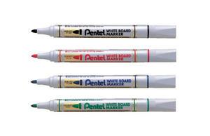Marker suchościeralny Pentel MW85 czerwony x1 - 2863187116