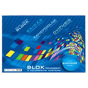 Blok papierów kolorowych A4 Kreska 170g 25k x1