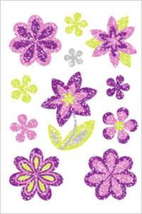 Naklejki HERMA Magic 6293 kwiaty kwiatki brokatowe