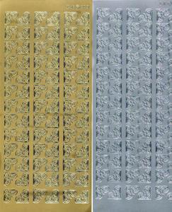 Sticker srebrny 02851 - narożniki małe x1