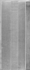 Sticker srebrny 01421 - zestaw szlaczków (R675) x1
