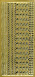 Sticker złoty 01239 - zestaw szlaczków x1