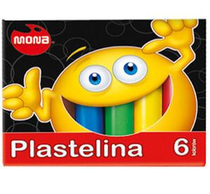 Plastelina Mona 6 kol. x1