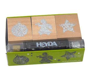 Stemple Heyda - zestaw 3szt.+ tusz - Bombka 4e x1