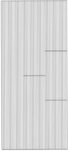Sticker złoty 01317 - paseczki proste x1