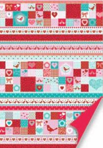 Karton A4 200g Heyda Love turkus/czerwony x1
