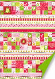 Karton A4 200g Heyda Love zielono/czerwony x1