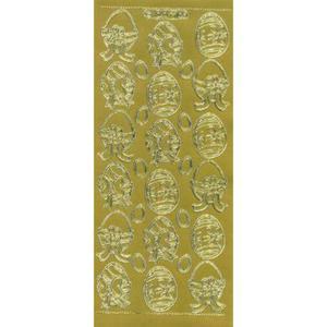 Sticker złoty 07106 - pisanki x1 - 2846498291