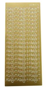 Sticker złoty 03470 - alleluja x1