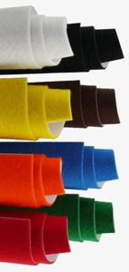 Filc kolorowy samoprzylepny A4 czerwony x1