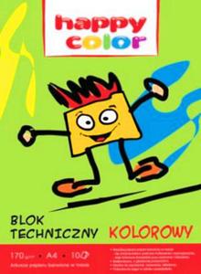 Blok techniczny A4 Happy Color 170g kolor 10k x1