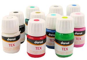 Farba do tkanin Tex Darwi 30ml - 752 pomarańczowa