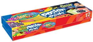Farby plakatowe Patio 20ml 12 kolorów mix x1