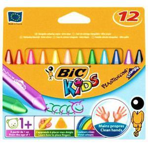 Kredki świecowe BIC Plastidecor 12 kol x1