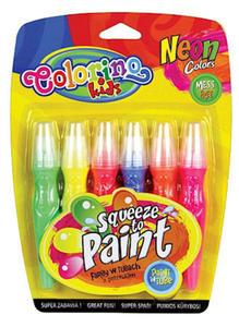 Farby Patio w tubach z pędzelkiem 6szt. neonowe