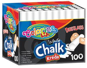 Kreda Patio Colorino Kids biała bezpył. x100 - 2835254814