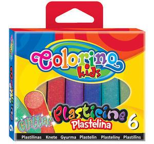 Plastelina Patio Colorino - 6 kol. brokatowa x1 - 2824963507