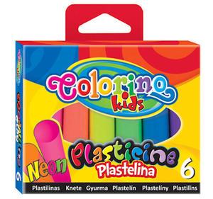Plastelina Patio Colorino - 6 kol. neonowa x1