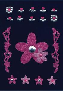Naklejki HERMA Glam 6007 różowe kwiaty x1