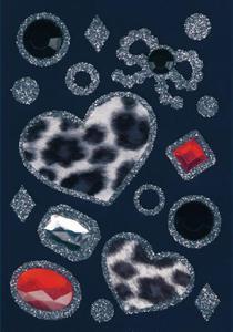 Naklejki HERMA Glam 6008 serca i kryształki x1