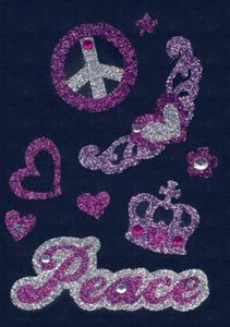 Naklejki HERMA Glam 6643 pokój, peace, korona x1 - 2824963520