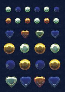Naklejki HERMA Glam 6646 serca i kryształki kol x1