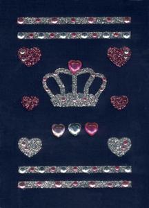 Naklejki HERMA Glam 6657 korona,serca,szlaczki x1 - 2824963524