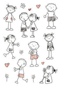 Naklejki HERMA Decor 3336 chłopiec dziewczynka x1