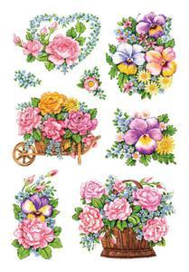 Naklejki HERMA Decor 3354 bukiety kwiatów x1