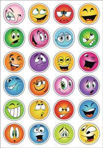 Naklejki HERMA Decor 3359 kolorowe buźki, miny x1