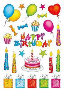 Naklejki HERMA Decor 3363 urodziny x1