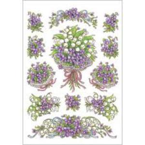 Naklejki HERMA Decor 3378 fioletowe kwiaty x1