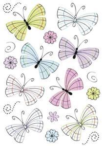 Naklejki HERMA Decor 3379 pastelowe motyle x1