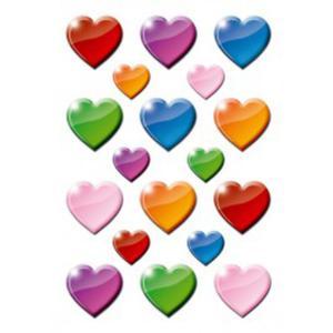Naklejki HERMA Decor 3403 serca kolorowe x1
