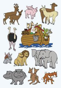 Naklejki HERMA Decor 3407 Arka Noego, zwierz�ta x1